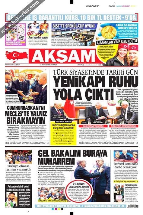 gazeteler gazete oku gazete haberleri gazete siteleri akşam gazetesi gazeteler