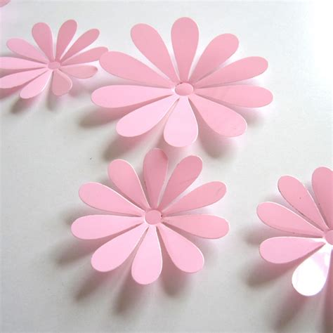 Flower Set 3d flower set pink wallstickersco