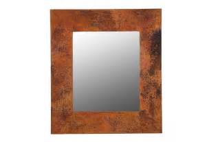 copper bathroom mirrors rustic rectangular mirror frame copper sinks