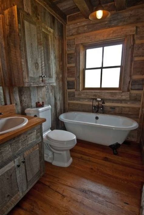 Cabin Bathroom Ideas by 44 Rustic Barn Bathroom Design Ideas Digsdigs