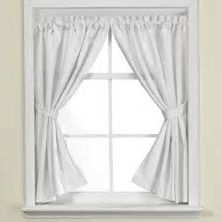 White Bathroom Window Curtains Westerly Bath Window Curtain Pair In White Bed Bath Beyond