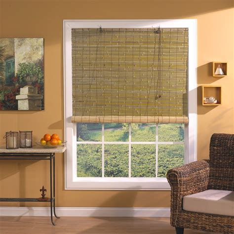 Window Decorating Ideas With Blinds by Laguna Bamboo Roll Up Shade Hyman Inc