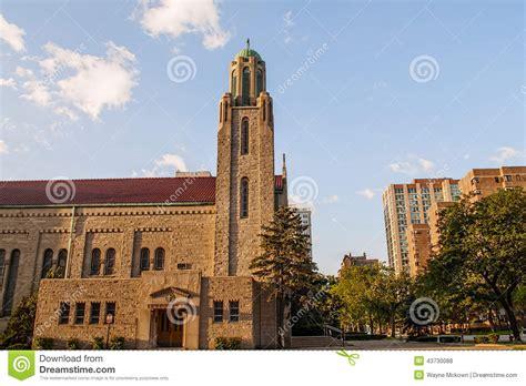 along with the gods chicago chicago landmark church stock photo image 43730088