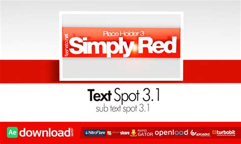 simply red cs4 after effects project videohive free