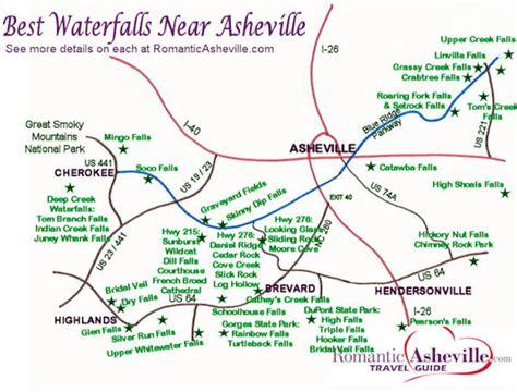 carolina waterfalls map waterfall drives and maps asheville nc