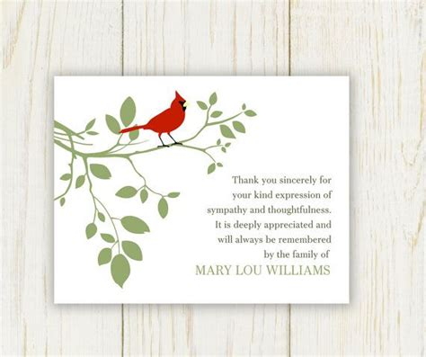 free sympathy thank you cards templates free printable sympathy cards bird funeral thank