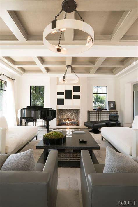 peek  kourtney kardashians sleek living roomand