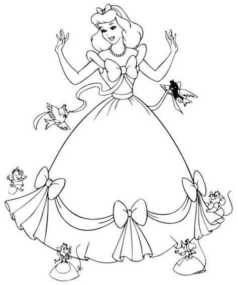 cinderella cartoon coloring pages cinderella drawings coloring home