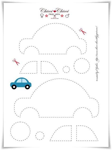 moldes carros en fieltro plantilla para hacer un coche sencillo de fieltro o tela
