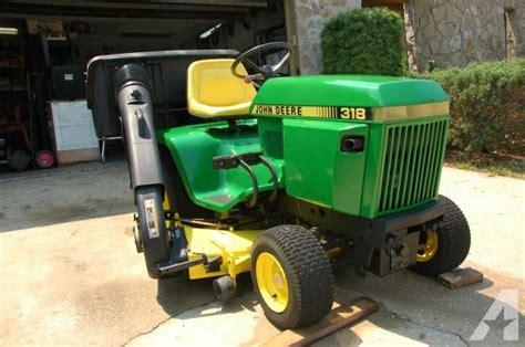 john deere  lawn garden tractor  power bagger