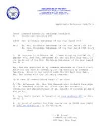 Navy Appointment Letter Instruction Navy Ombudsman Appointment Letter Navy Appointment