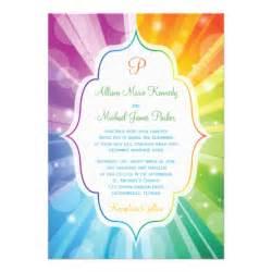 party simplicity rainbow wedding invitations design