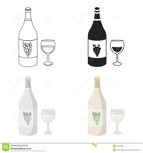 cartoon white wine vineyard cartoon cartoons illustrations vector stock