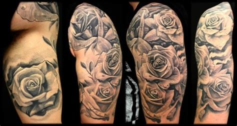 black and grey rose tattoo sleeve black and grey rose sleeve tattoos www pixshark com