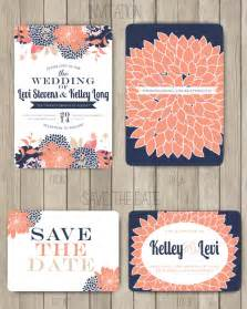 inviting colors navy and coral wedding inspiration mood board sohosonnet