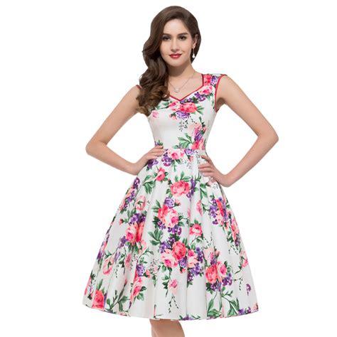 flower pattern gowns retro vintage dresses cocktail dresses 2016