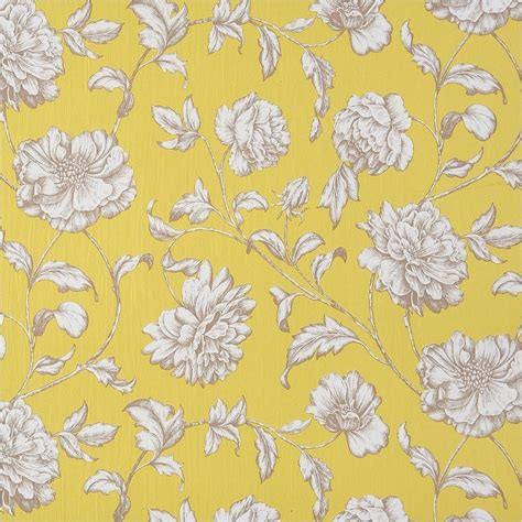 Yellow Patterned Wallpaper by Caselio Pergola Wallpaper Yellow 63212046 Wallpaper