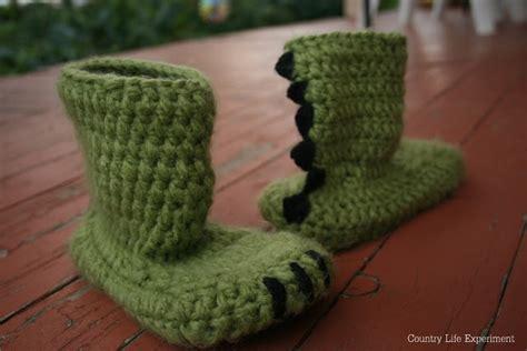 crochet dinosaur slippers dinosaur slippers country experiment