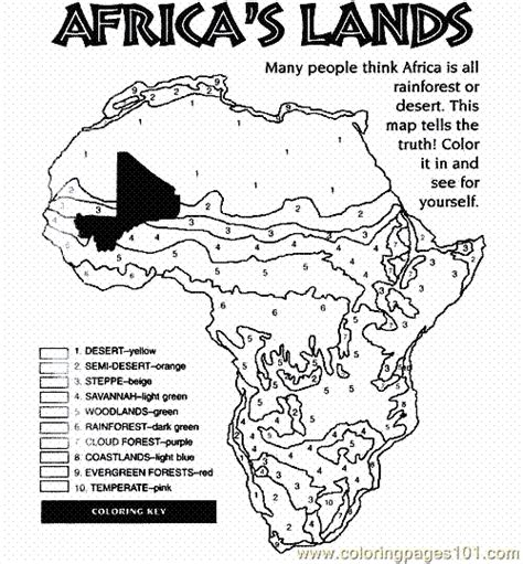 printable coloring page map of africa free coloring page biomes of africa bio ecology