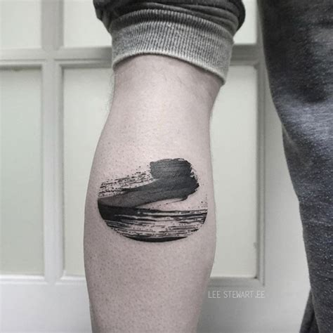 28 blackwork brush stroke tattoos by lee stewart tattooblend