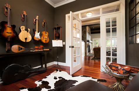 home music room comfortable cottage style transitional home office