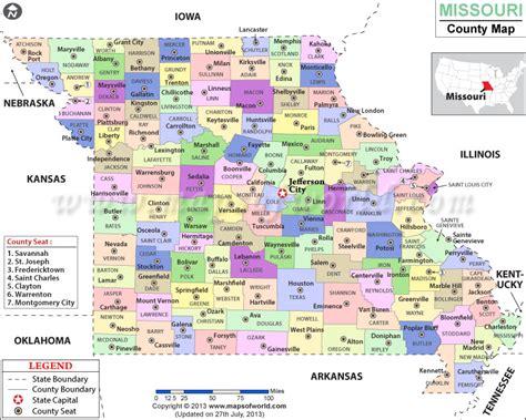 Missouri County Map   Missouri Counties