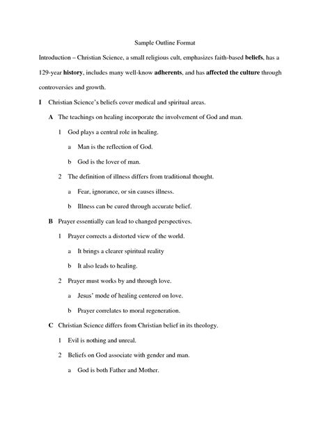 detailed outline template best photos of outline format exle paper outline