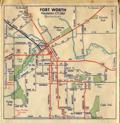 fort worth map c1940 whar ah m from fort worth