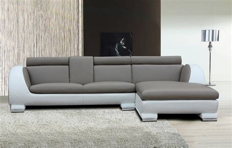 L Shaped Modern Sofa Modern White Grey L Shape Sofa