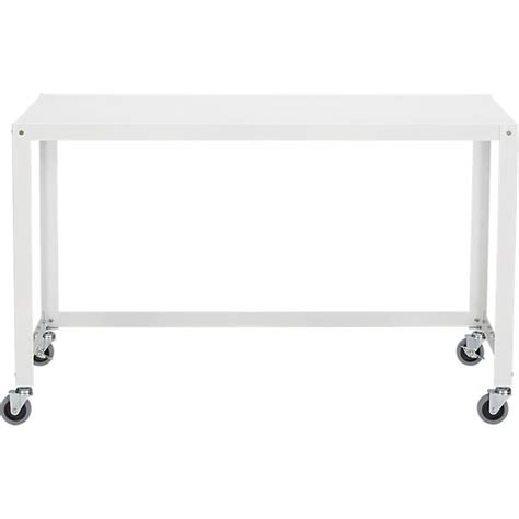 go cart rolling desk go cart white rolling desk cb2