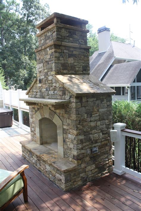 How To Build An Outdoor Stacked Fireplace How Outdoor Stacked Stone Fireplace With Hearth Fireplaces