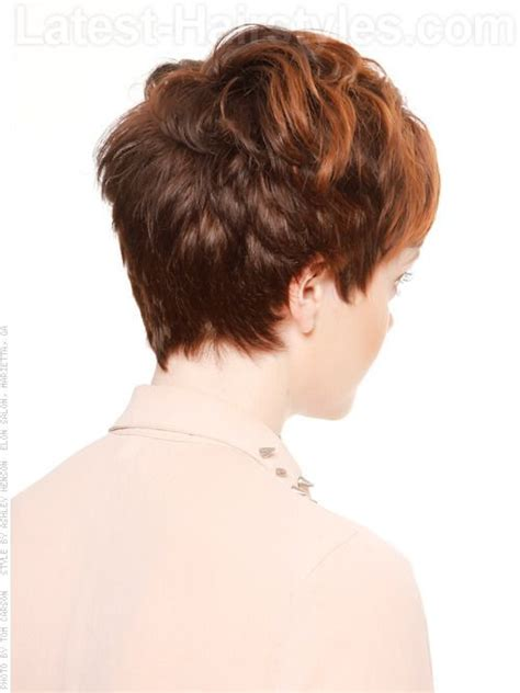 roller set styles for short pixie cut back view of pixie haircut short haircuts best hot