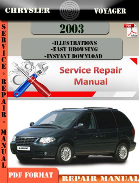 Chrysler Voyager 2003 Factory Service Repair Manual Pdf