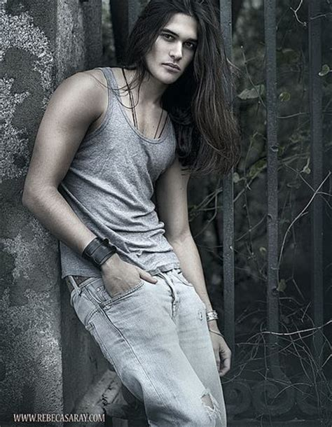 long haired male models alex rosaleny male model men so hot with long hair