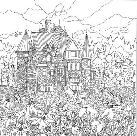 coloring pages for adults buildings 741 best images about colouring buildings houses