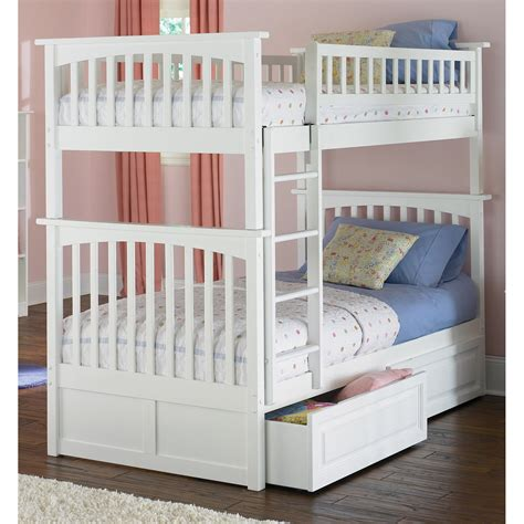 kids twin bunk beds atlantic furniture columbia twin over twin bunk bed kids
