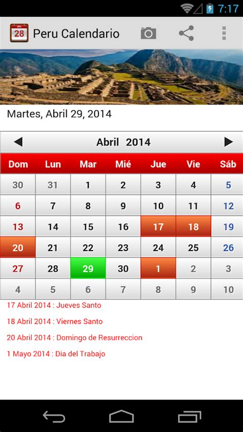 peru calendario 2015 android apps on google play peru calendario 2015 android apps on google play