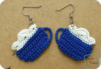 free crochet pattern heart earrings cup of cocoa earrings free crochet pattern by divinedebris