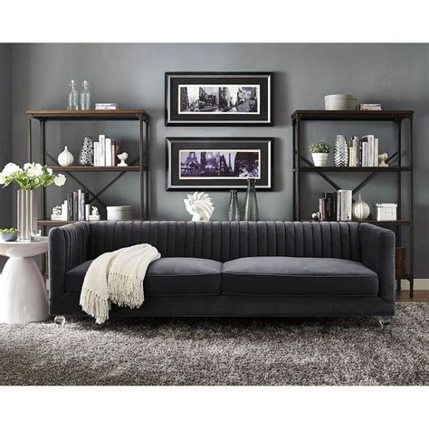 De Velvet Grey 17 best ideas about grey velvet sofa on gray