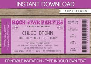 Pics photos printable concert ticket templates platinum lawn care