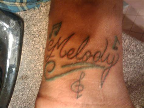 melody tattoo picture