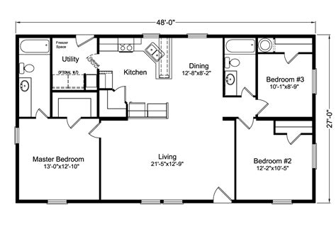 floor plan of the factory select 4g28483x manufactured home floor plan