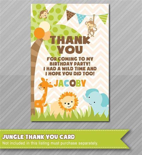 Safari Themed Thank You Cards
