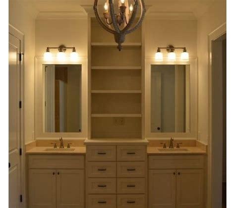 bathroom vanity with center linen cabinet bathroom storage and vanities dream home