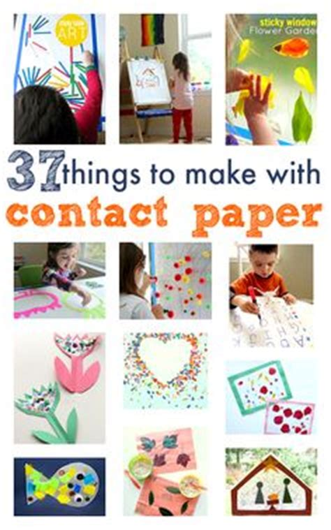 contact paper craft ideas carnival crafts for carnival crafts