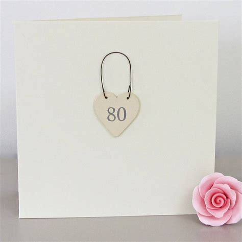 Handmade 80th Birthday Cards - 80th handmade birthday card by chapel cards