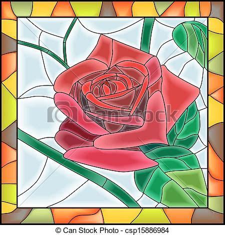 fiori mosaico vettore di fiore rosa mosaico rosso vettore