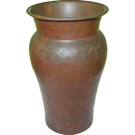 Hammered Copper Vase by Vintage Arts Crafts Hammered Copper Vase From