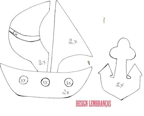 pattern bantal felt design lembran 231 as blog molde barco 226 ncora de feltro