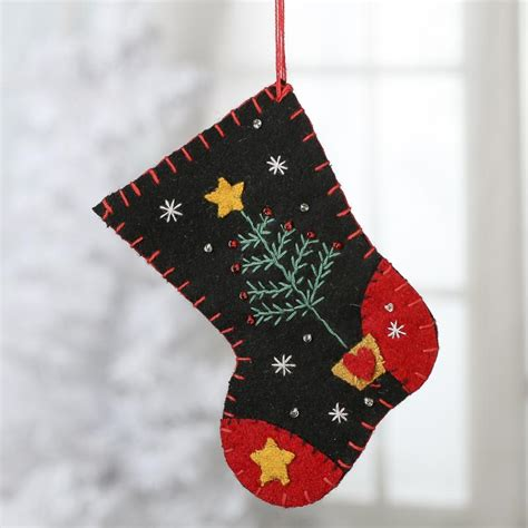 christmas stockings sale small embroidered christmas stocking ornament on sale holiday crafts